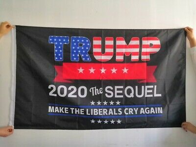 Trump 2020 Flags Lot  5 Pack The Sequel Make Liberals Cry Again MAGA 3x5 Ft NEW