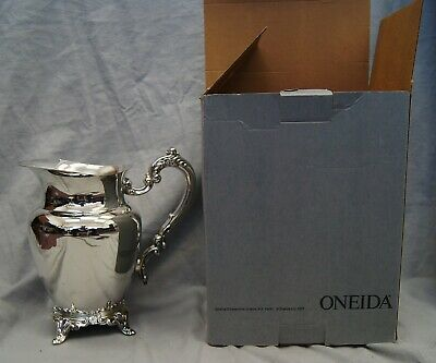Vintage Water Beverage Pitcher Oneida DU MAURIER Silverplate Original Box Unused