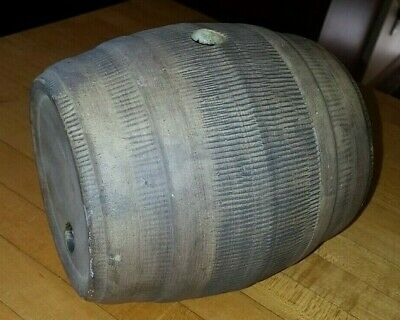 "Antique stoneware pottery whiskey rum vodka barrel 6 "" L x 4 1/2 "" W"