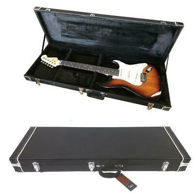 New Universal Electric Guitar Square Hard-Shell Case w/ Full Neck Support