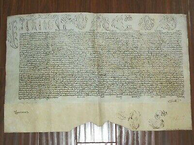 RARE Large Papal Bull of Pope Clement XII on Parchment, Dated 1733