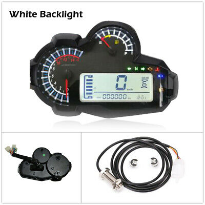 Motorcycle DC 12V LCD Digital Display Tachometer Assembly Speedometer Odometer
