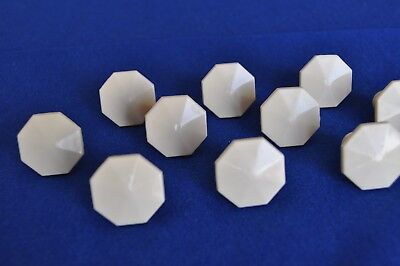 NOS Vintage 1930s era Hollymade Ivory Plastic Cabinet Knob with attachment screw