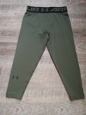 $35 Mens Under Armour ¾ Compression Running Training Athletic Tights Pants Small