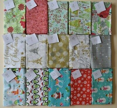 christmas F/Q fat quarters patchwork & quilting fabric.... new fabrics added