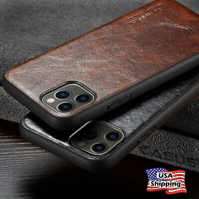FOR iPhone 11 / 11 PRO MAX Luxury Leather Back Ultra Thin TPU Slim Case Cover