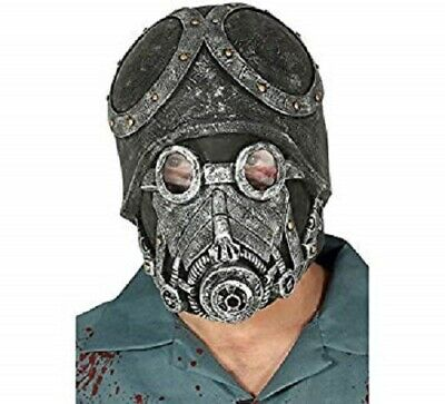 Mask Latex Soldier Maschera Lattice Antigas Guirca Art.2863 One Size