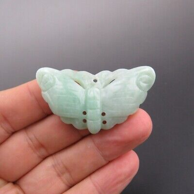China, jade, pure manual carving, Jadeite jade ,The butterfly, pendant A13