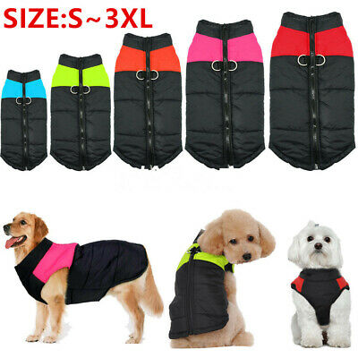 Small/Large Pet Vest Jacket Warm Waterproof Dog Clothes Winter Padded Coat #USA