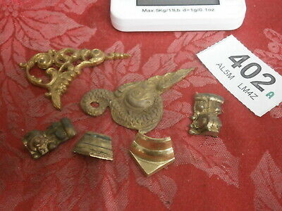 Clock Dial Spandrels & Case Capitals Brass Lot of fusee bracket mantle part 402A