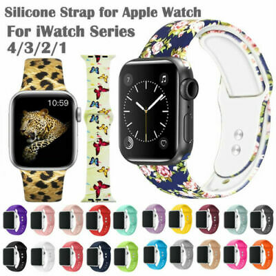 Mickey Mouse Leopard Apple Watch Band 38 40 42 44 mm Serie 5 1 2 3 4 Wrist Strap