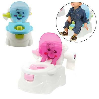 2 in 1 Kid Baby Toilet Seats Portable Toddler Training Safety Potty Trainer Seat