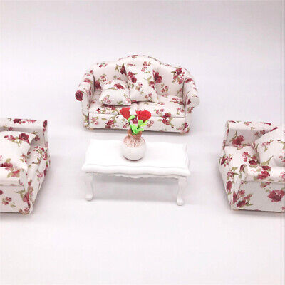 1:12 Dollhouse Miniature Furniture Vintage Sofa Armchair Couch Decor Toy Wide