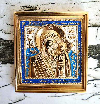 Russian Orthodox Old Believer Kazan Icon of the Blessed Virgin Mary, Our Lady