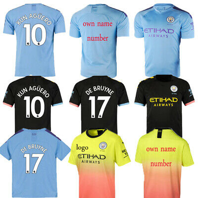 19-20 Football Kits Soccer Suits Kids Boys 3-14Y Jersey Strip Sports Suits+Socks