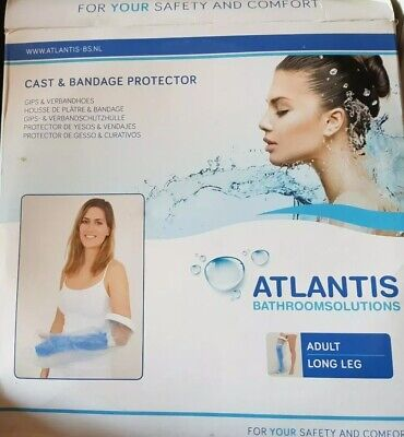 Aquarius Atlantis Waterproof Bath/Shower Cast Protector; Adult Long Leg