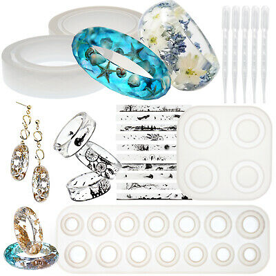 Bracelet Ring Resin Silicone Moulds Casting Jewellery Making Set of 19-kit