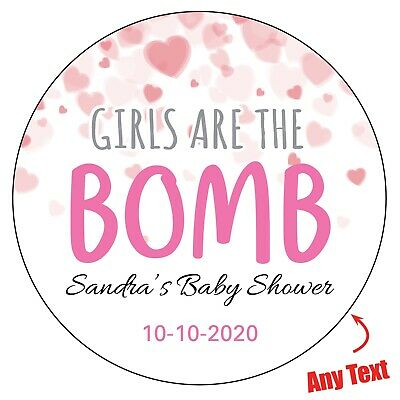 IT/'S A BOY Baby Shower Personalised Stickers Pregnant Gender Party Bag 1001