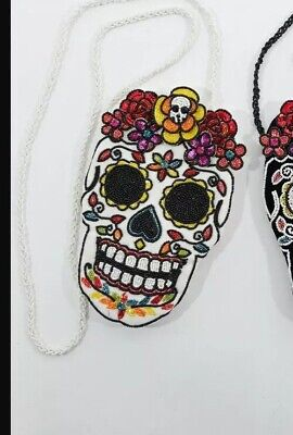 """MEXICAN /""""DAY of the DEAD/"""" SKULL HEARTS ROSES BIRDS 65mm LASER DISC MG BEAD-B1049"""