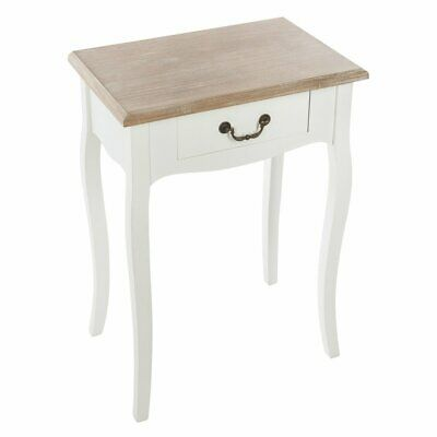Bedside table made of wood, bedside table with classic design
