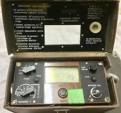 Fully Working Dp75 Dosimeter Test Military Radiation  Geiger Counter Beta Gama