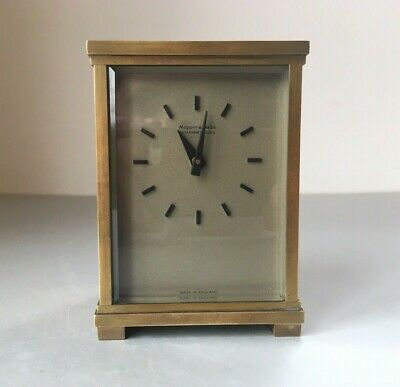 c1940s Antique Mappin & Webb Johannesburg Bronze or Brass Mantel Carriage Clock.