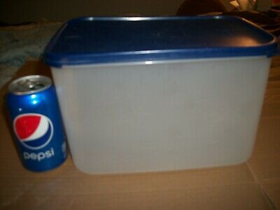 Vintage Tupperware Modular Mates 27 1/2 Cup #8 Container #1848C Blue Lid #1610