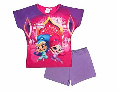 Official Licensed Girls Shimmer and Shine Shortie Pyjamas Pjs Sleepwear 18m 4yrs