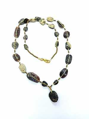 Afghan Antique Ancient Rare Roman Glass Beads Necklace Jewelry Handmade Vintage