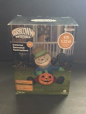 Gemmy Halloween Scarecrow 4ft Tall Airblown Inflatable