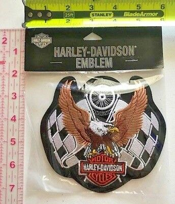 Vintage Retired Harley Davidson Racing Eagle Md Emb848303