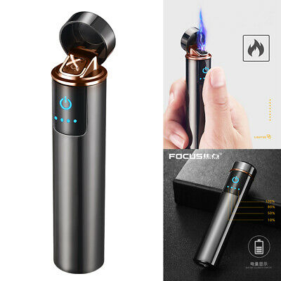 Electric Arc Plasma USB Rechargeable Smoking Cigarette Windproof Touch Lighter