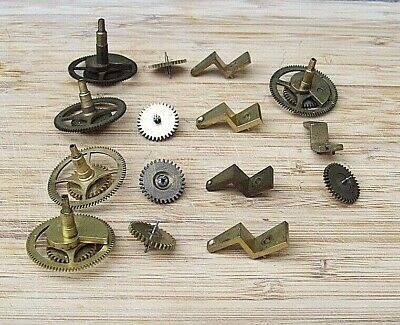 Genuine Antique French Clock Cannon wheels With Brackets x 5