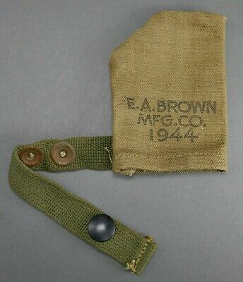 WWII US Army 1944 EA Brown M1 Garand Rifle Muzzle Barrel Protector Cover