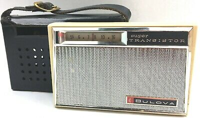 Bulova 890 Series Pocket Transistor Radio W/ Case (Not Tested/For Parts)