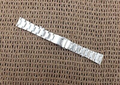 Stainless Steel Solid Link Watch Strap 20mm Straight Ends by Geckota