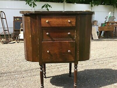 Vintage Martha Washington Sewing Stand Cabinet Antique Furniture Seamstress