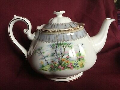 Royal Albert Silver Birch Bone China  6 cup teapot Stunning