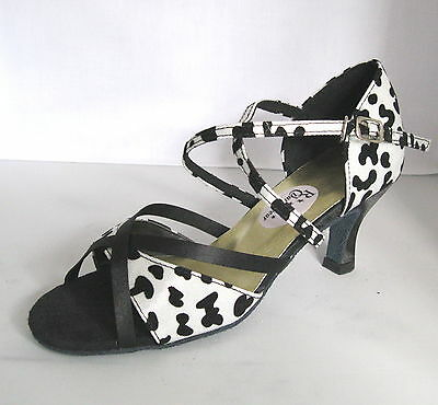 Ladies Black and White Ballroom, Latin, Salsa, Jive Dance Shoes - UK Sizes 3 - 8