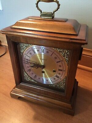 Howard Miller 612-437 Westminster Chime Manual Wind Movement Mantel Clock W/Key