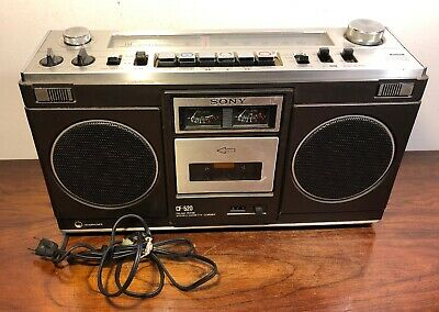 Vintage Sony CF-520 Am/Fm Stereo Cassette Boombox Radio