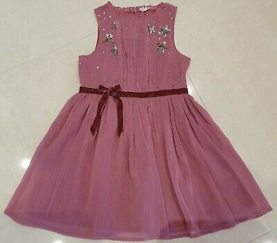 New Girls Next Beautiful Embellished Pink Party Occasion Bridesmaid Dress 3-12