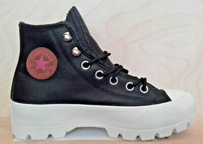 905 Converse Scarpa/Shoes Chuck Taylor All Star Lugged Black Leather 565006C