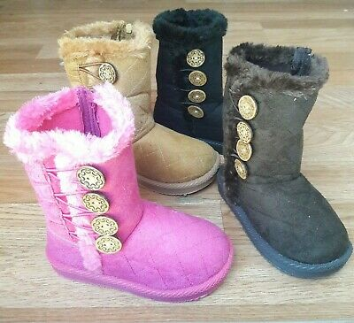 Toddler Kids Girls Winter Flexible Boots Size 7-11 New