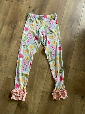 Matilda Jane Floral Ruffle Pants Youth Girl's Size 8 EUC