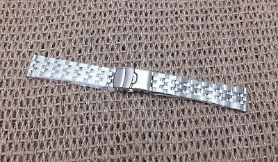 Stainless Steel Engineer Link Watch Strap 20mm Straight Ends by Geckota