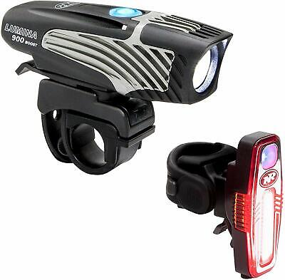 Bike Head Rear Light Combo Lumina Micro 900 Lumen LED Li-Ion USB Flash Rugged AC