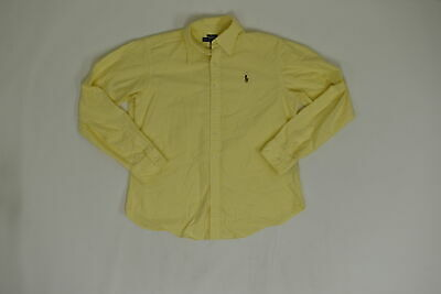 Men's Ralph Lauren 14 Boys Regular  Button Down Yellow Classic Cotton