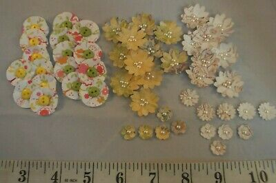 50 x Handcrafted 3D Layered Flower Embellishments Card Making Scrapbooking Craft