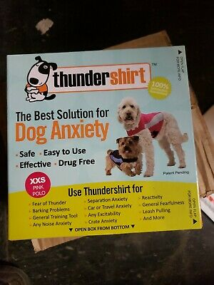 THUNDERSHIRT POLO for Dogs RELIEVES STRESS & ANXIETY PINK XXS Brand new
